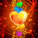 Coeurs brillants empilés