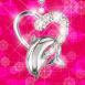 Pendentif dauphin en forme de coeur