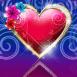Bijou coeur surmonté de fleurs