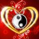 Pendentif Yin Yang en coeur