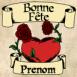 """Coeur et roses """"Bonne fête"""""""