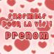 """Coeurs et texte """"Ensemble pour la vie!"""""""