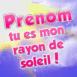 """Texte """"T'es mon rayon de soleil!"""""""