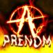 Symbole anarchiste enflammé