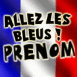 """Drapeau français """"Allez les bleus!"""""""