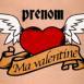 """Tatouage vintage """"Ma valentine"""""""