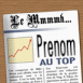"Couverture de Journal: ""Pr�nom"" au top"