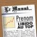 """Couv' de Journal: """"Prénom"""" Libido au top"""