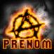 Symbole anarchiste en feu sur fond noir
