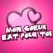 "Coeurs ""Mon coeur bat pour toi"""