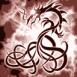 Dragon tribal dans les nuages