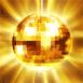 Boule à facettes dorée