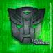 Transformers: métallique sur fond vert