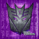 Transformers: decepticons sur fond violet