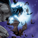 Batman sur fond de pleine lune