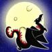 Dragon devant la lune