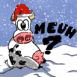 Hiver: Vache dans la neige