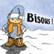 """Enfant en habits de Noël """"Bisous!"""""""