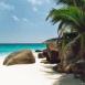 Plage et palmiers (Seychelles)