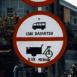 """Panneau """"Interdit aux cyclos-pousse"""" (Vietnam)"""