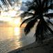 Plage au crépuscule (Maldives)
