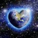 Planète terre en forme de coeur