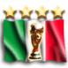 Drapeau italien 4 étoiles