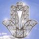 Logo Main de Fatima sur fond de ciel bleu