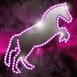 Cheval brillant dans l'espace