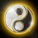Ying-Yang dans un halo doré