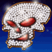 Bijou crâne avec strass