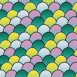 Ecailles colorées