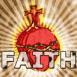 """Coeur et croix """"Faith"""""""