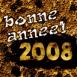 """""""Bonne année 2008"""" en or massif"""