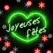 """""""Joyeuses fêtes"""" néon"""