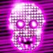 Crâne strass fluo rose