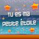 """""""Tu es ma petite étoile"""" sur ciel étoilé"""