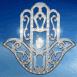 Logo Main de Fatima sur fond bleu