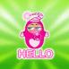 "B�b� emmaillot� ""Hello"""