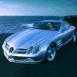 Mercedes SLR, vue de 3/4 face