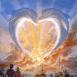 Dauphins en forme de coeur
