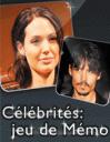 Célébrités: jeu de mémo