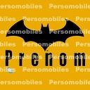 Logo pr nom batman chauve souris noire sur fond jaune - Telecharger batman begins ...